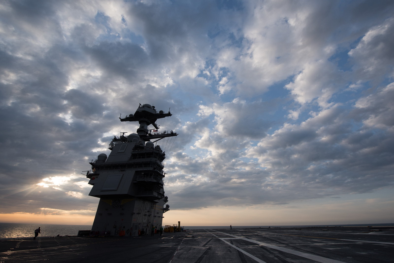 Aircraft carrier Gerald R. Ford (CVN 78) returned to Naval Station Norfolk on April 14, 2017, after successfully completing builder's sea trials. During the carrier's time at sea, her systems, components and compartments were tested for the first time.