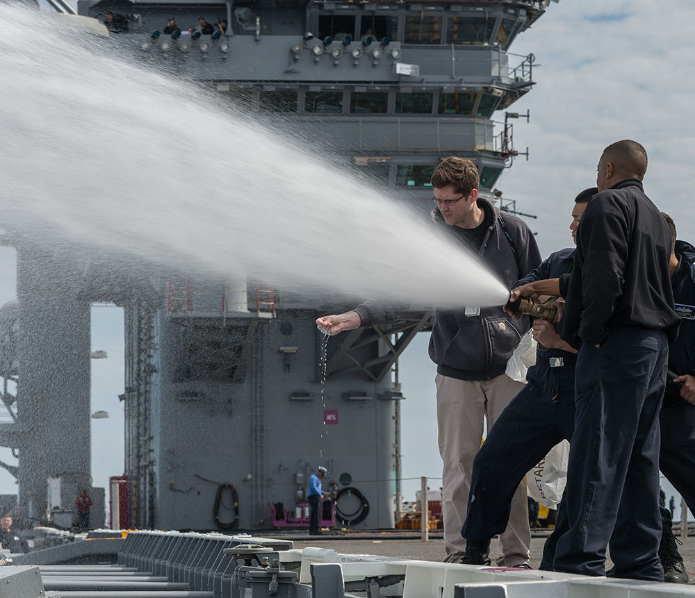 Shipbuilders, sailors and Navy personnel spent four days at sea testing USS Abraham Lincoln's (CVN 72) systems, components and compartments. The trials represented the first time the carrier had been out to sea following its refueling and complex overhaul. Following successful sea trials, CVN 72 was redelivered back to the U.S. Navy on May 12, 2017