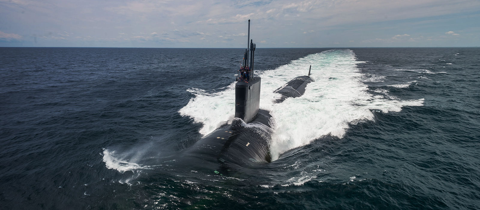 John Warner (SSN 785) on sea trials. Photo by Chris Oxley
