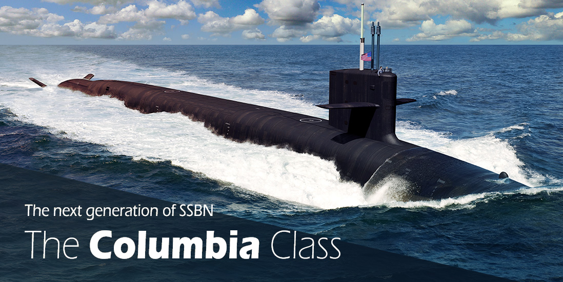 An artistic rendering of a Columbia-class submarine at sea. Photo courtesy U.S. Navy