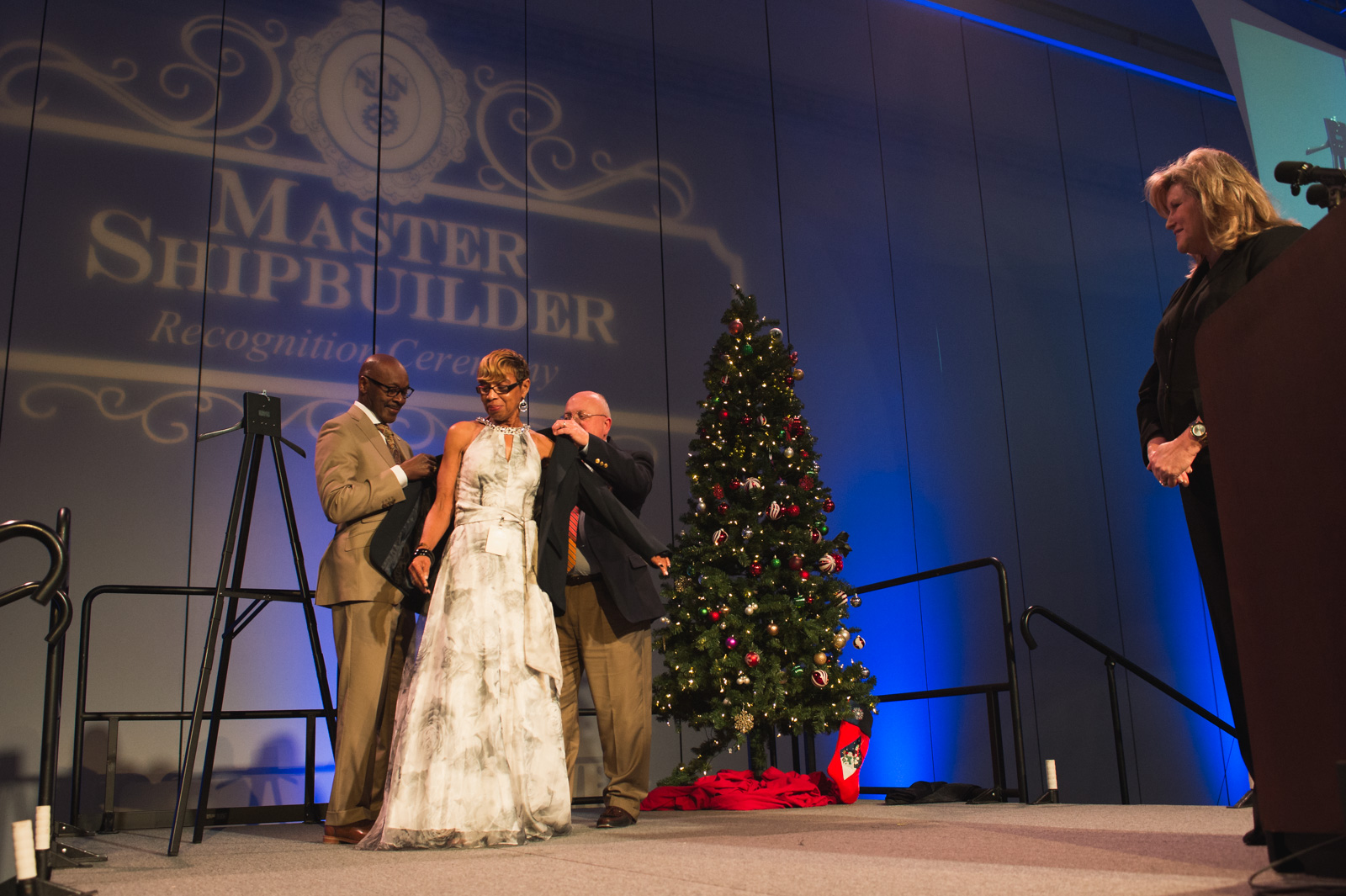 Newport News Shipbuilding recognizes employees with 40 or more years of continuous service with the prestigious title of Master Shipbuilder. On Dec. 6, NNS honored 1,161 Master Shipbuilders – including 359 shipbuilders who reached the milestone in 2017 – during an annual recognition ceremony.