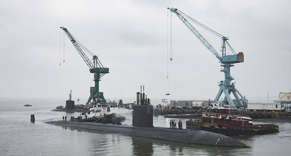 Newport News Shipbuilding Begins Scheduled Overhaul Work on the Nuclear-Powered Submarine USS Boise