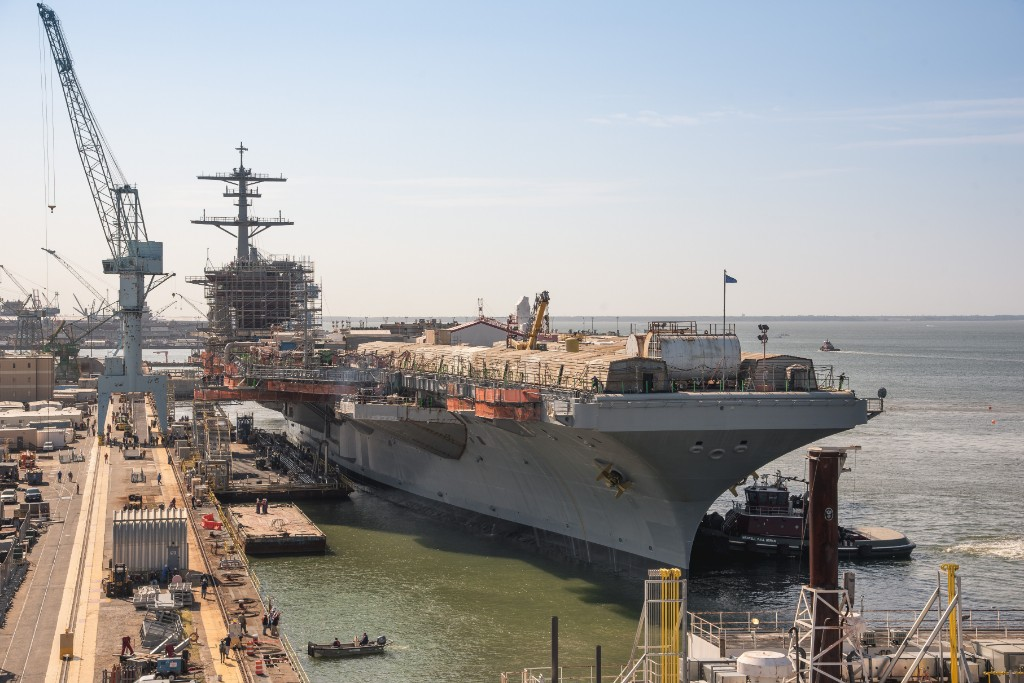 USS George Washington (CVN 73) Leaves Dry Dock
